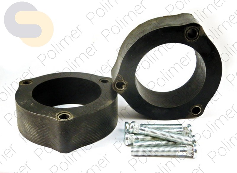 Проставки увеличения клиренса передних стоек KIA - полиуретан 40 мм