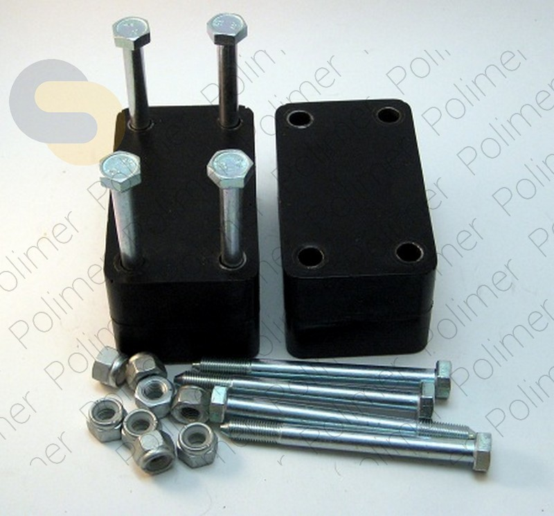 Проставки увеличения клиренса УАЗ между кронштейном серьги рессоры и рамой - полиуретан 60 мм