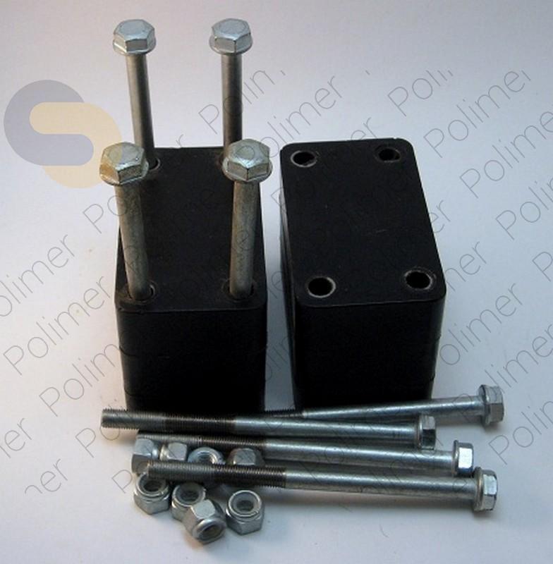 Проставки увеличения клиренса УАЗ между кронштейном серьги рессоры и рамой - полиуретан 80 мм