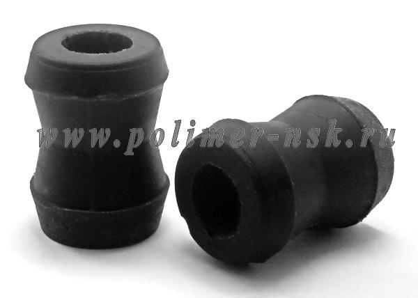 Втулка амортизатора универсальная (цельная, конусная)  I.D.=16 мм/O.D.конуса 24 мм/30 мм