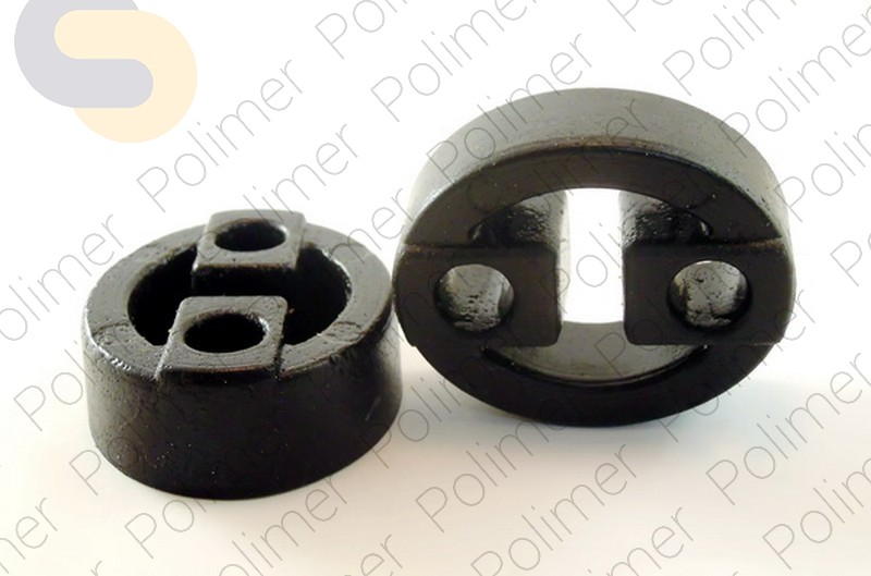 Подушка крепления кронштейна глушителя универсальная расстояния между отверстиями 38 мм