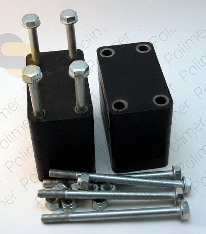 Проставки увеличения клиренса между кронштейном серьги рессоры и рамой 100 мм УАЗ