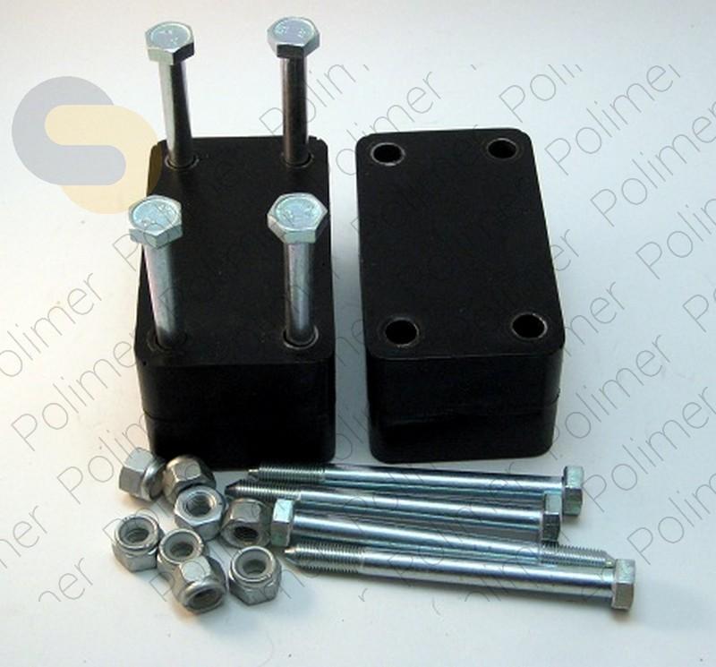 Проставки увеличения клиренса между кронштейном серьги рессоры и рамой 60 мм УАЗ